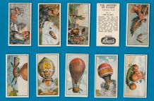 TRADE/ cigarette cards set The History of Flight 1963 Zeppelin ,Air balloon